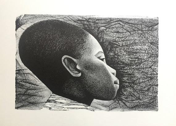 Elizabeth Catlett- Negroes Bello I (Black Is Beautiful) (Offset Print)
