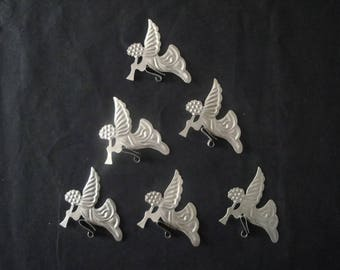 Clips Angels candle holders, metal decorations