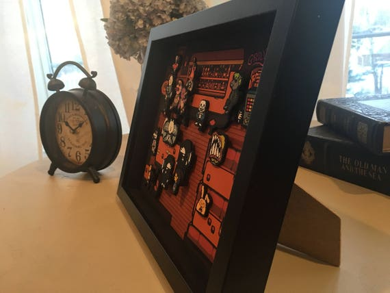 408f5df850193 Undertale Snowdin Bar 3D Shadow Box Diorama 8