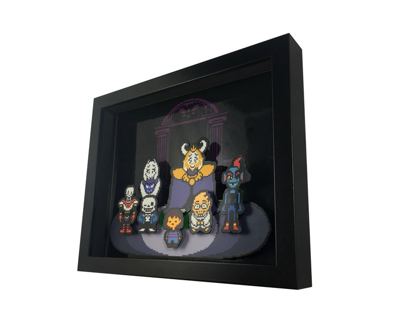 2559613ac8fce Undertale Cast 3D Shadow Box Diorama 8