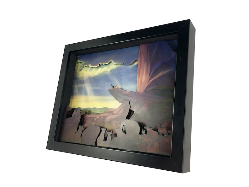 fa80c54ff9bfe Pride Rock 3D Shadow Box Diorama 8