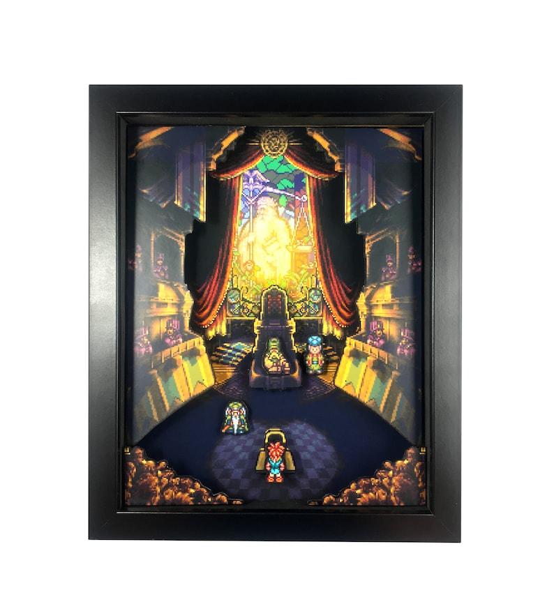 good Video Game Wall Art Part - 9: Chrono Trigger -- Video Game Shadowbox -- 3D Shadow Box --   Etsy