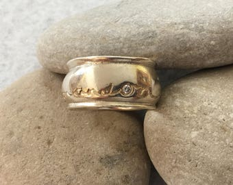 """Ring-Sterling Silver band """"on and on and on"""""""