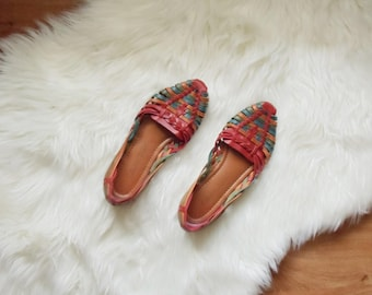 Vintage Flats Leather Woven Size 6