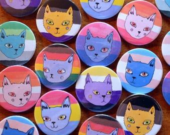 LGBTQ+ Pride Cat Badges