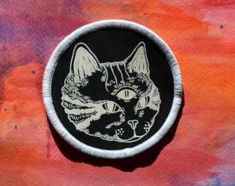 Spooky Halloween Cat Patch