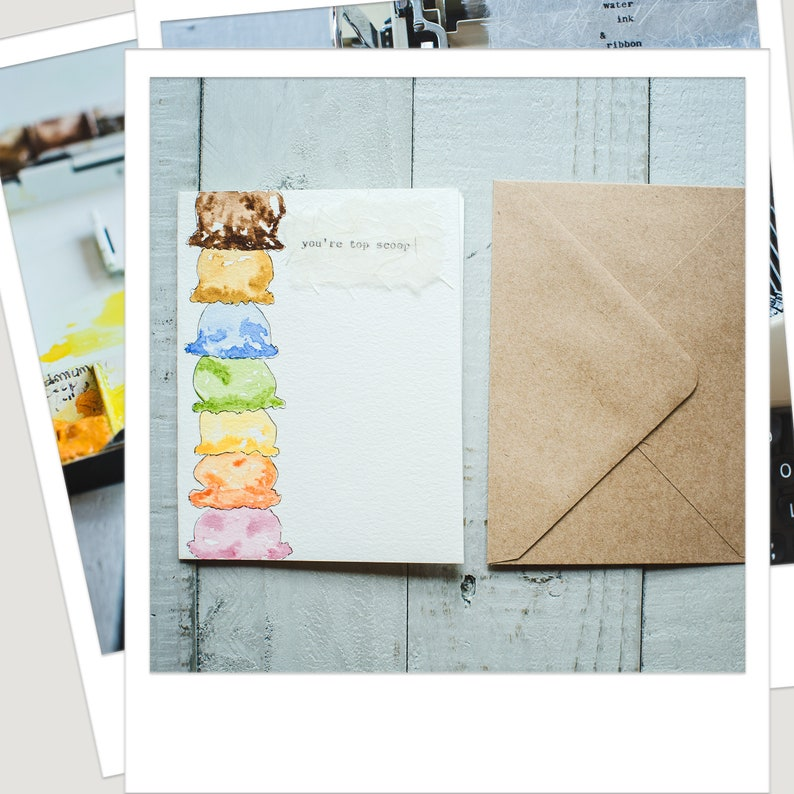 Gift for Foodie Gifts for Foodies Card for Foodies Summertime Gift Card for Foodies Ice Cream Scoop Card Dessert Lover Ice Cream Card