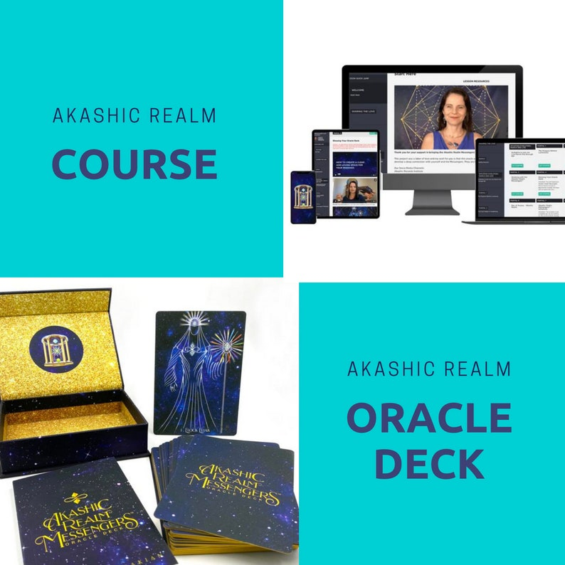 Bundle Akashic Realm Course and  Oracle Deck  BILINGUAL: image 0