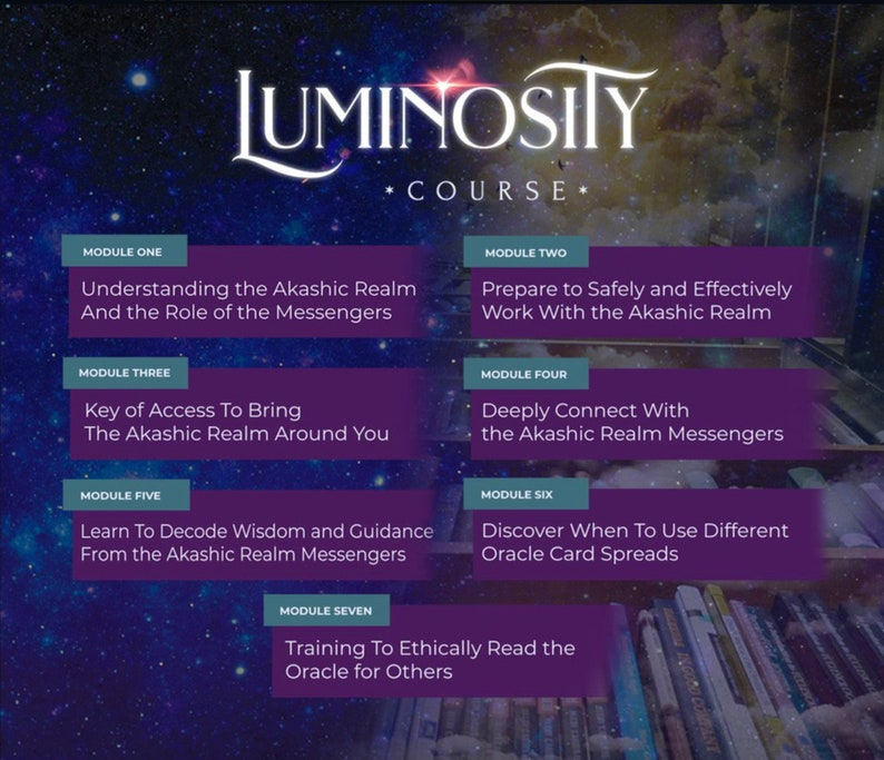 Luminosity Course: Learn to Read an Oracle Deck plus Oracle image 0