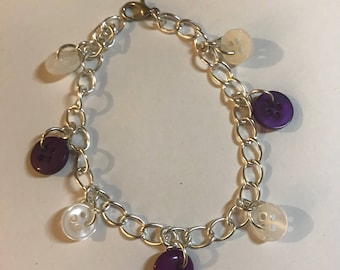 Purple Button Bracelet