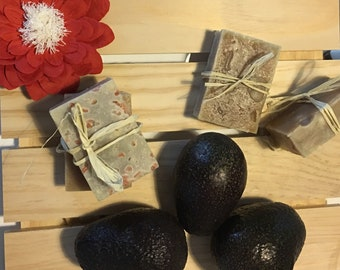 "Luxuriant ""Avocado"" soap w/ Himalayan salt"