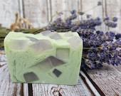 Lavender Peppermint Soap- glycerin soap- goat milk soap- bath gift- soap gift