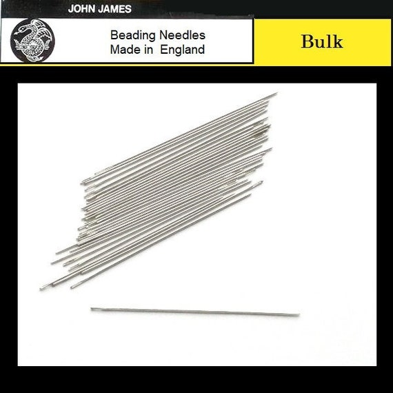 Four Size 28 Beadsmith//John James English Long Eye Beading Tapestry Needles