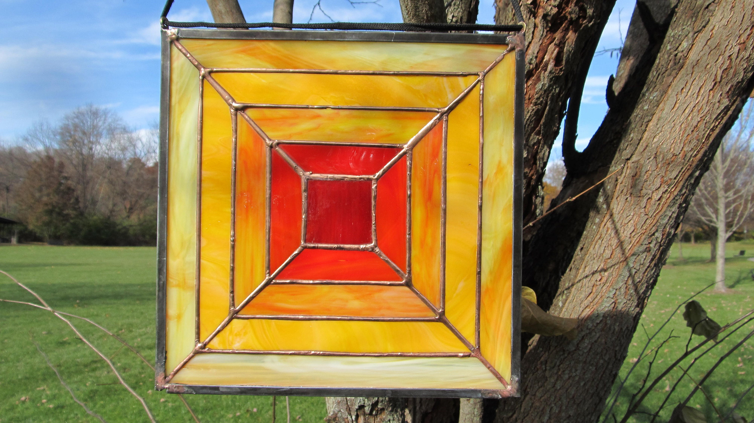 Stained Glass Panel, Symmetric Stained Glass Panel