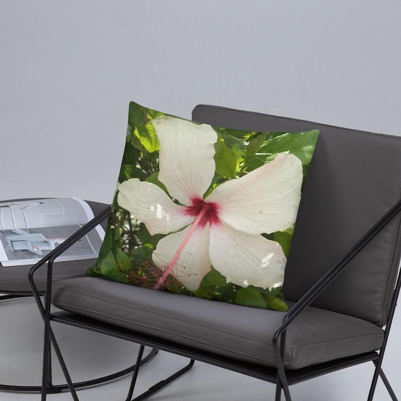 White Flower Pillow