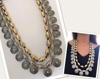 Indian Dholki Mala, Bormala, Dholki beads necklace, Indian Jewelry,Bridal Jewelry, Bollywood,Ethnic,Statement Necklace, Dholki Haar, Bormaal