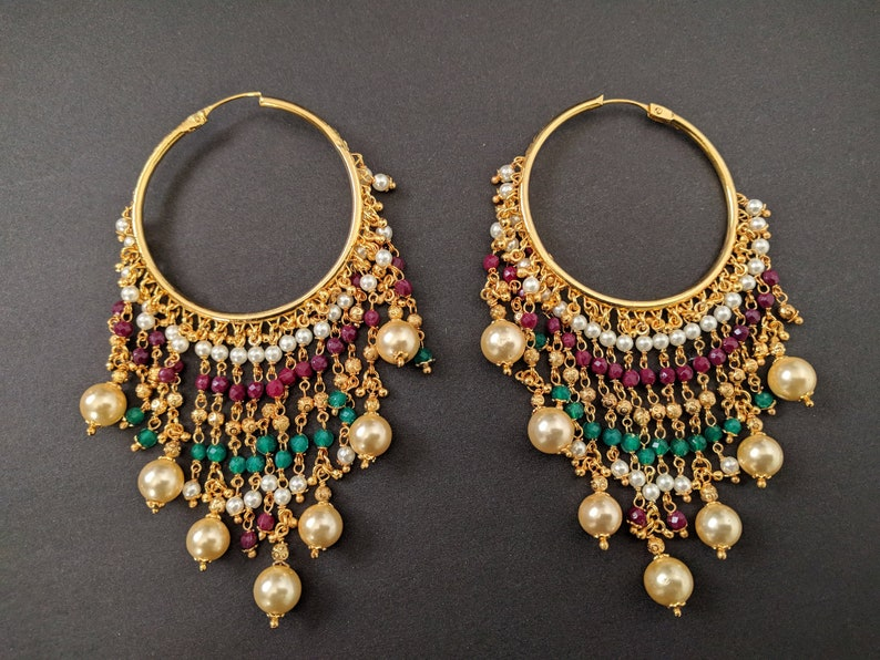 2019 Fashion Uk Indian Bollywood Ethnic Gold Plated Pearl Jhumka Earring Party Fashion Jewelr Jewelry & Watches Fashion Jewelry
