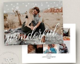 Christmas Card Template, Photo Christmas Card Template, Holiday Card Template, Photoshop Christmas Card Template, PSD Template, 5x7 Card