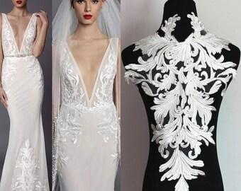 3d flower dress etsy 1 pc white lace applique3d lace appliquewedding dress appliqueveil lace appliquebig lace patchwedding dress flower supplies mightylinksfo