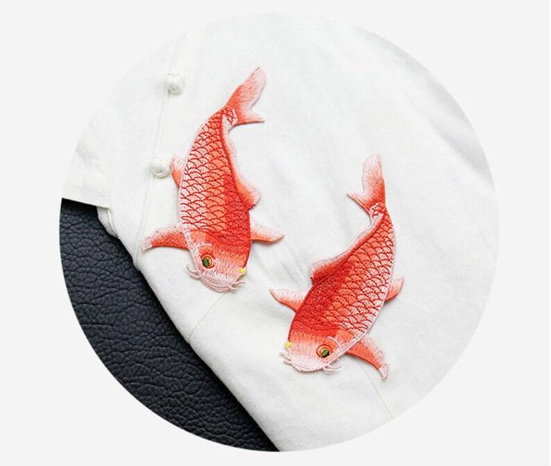 1 Pair-2PC Lace Applique,Embroidery Fish Patch,Animal Lace Applique,Vintage Lace Patch,Sewing on Applique,Cute Lace Patch