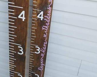 Growth chart ruler | Wooden growth chart | kids growth chart | Homemade giant rulers | Measuring sticks | Kids Nursery | Giant Ruler