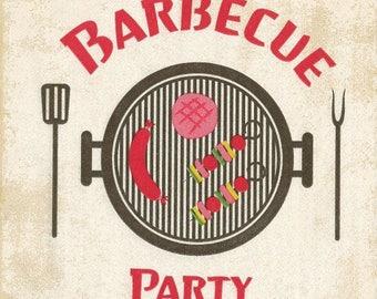 208 - BBQ party napkin