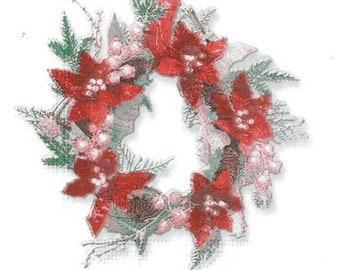 Crown paper napkin flower (433)