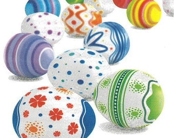 2 napkins eggs decorated (303)
