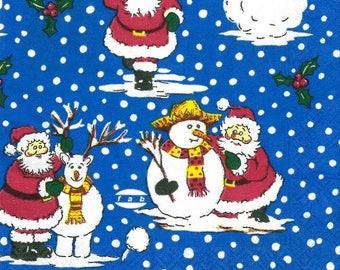 Santa Claus paper towel (376)