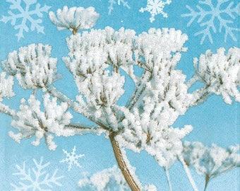 "2 paper napkins ""frosty winter"" (257)"