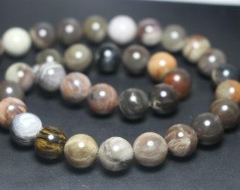 Matte Wood Opalite Round Smooth Natural Gemstone Beads 15-16