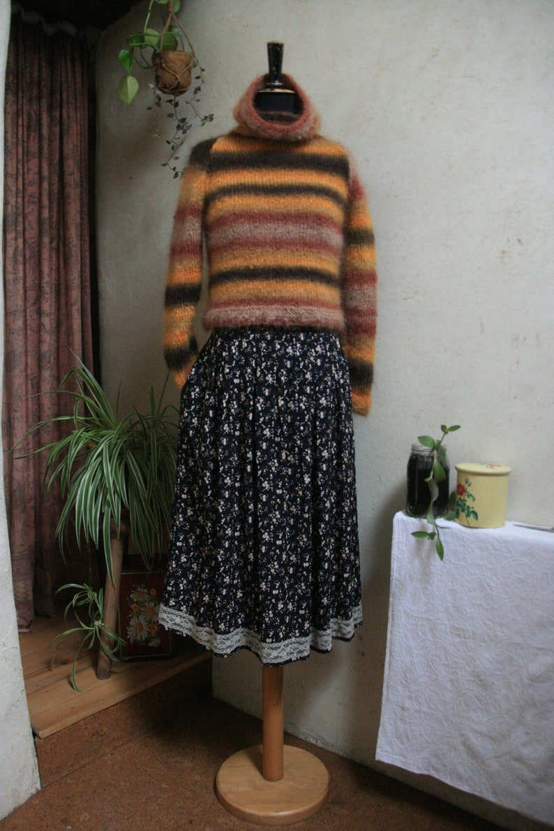 Hand-knitted Short turtleneck mohair sweater soft and warm image 0