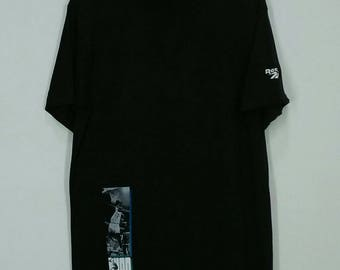 Vintage 90s Reebok Shaq Basketball T-shirt Big Logo Spell  Out Hip Hop Style Nice Design Medium Size