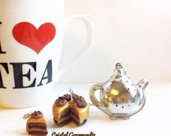 Rainbow cake tea ball - cookie
