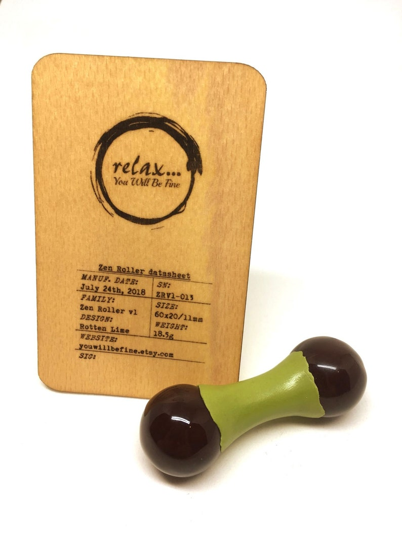 Rotten Lime  Zen Roller v1  Knuckle Roller  EDC  Fidget image 0