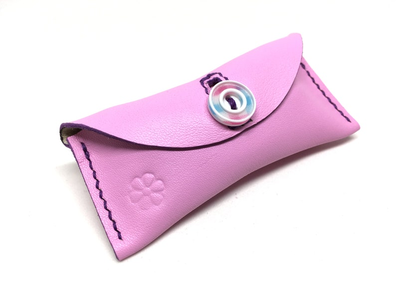 The Flamingo  horizontal leather pouch for your image 0