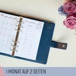 """Kalendereinlage Monatsübersicht """"Dotted"""" Personal Tracker / Planner Inserts Monthly Planner / für Organizer Filofax Websters Pages 2019 2020"""