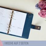 """Kalendereinlagen 1W/2S Personal """"Dotted/ Planner Inserts Weekly/ Wochenübersicht für Filofax/Kikki K/Websters Pages Organizer 2019 2020"""