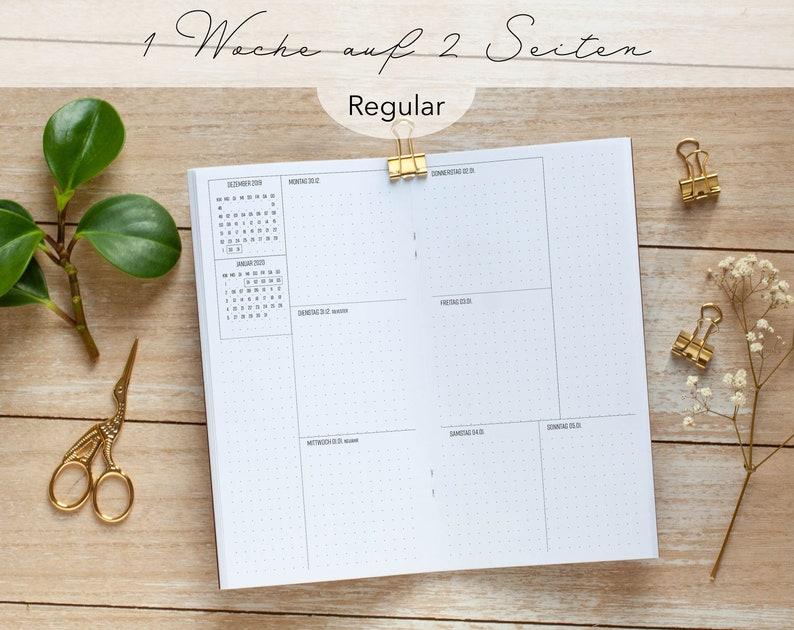 Heft/Insert Regular Dotted 1W/2S / Weekly Planner image 0