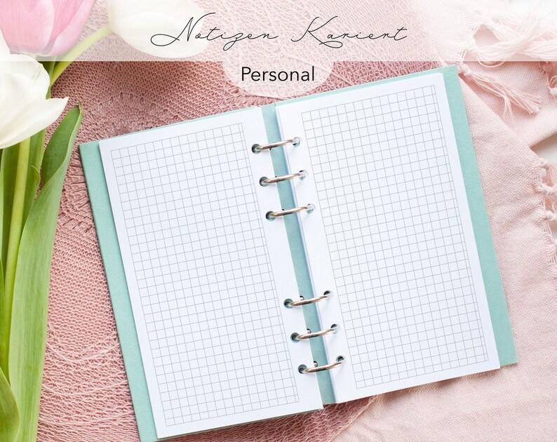 Kalendereinlagen 30 Blatt kariert Notizen Personal / Planner image 0