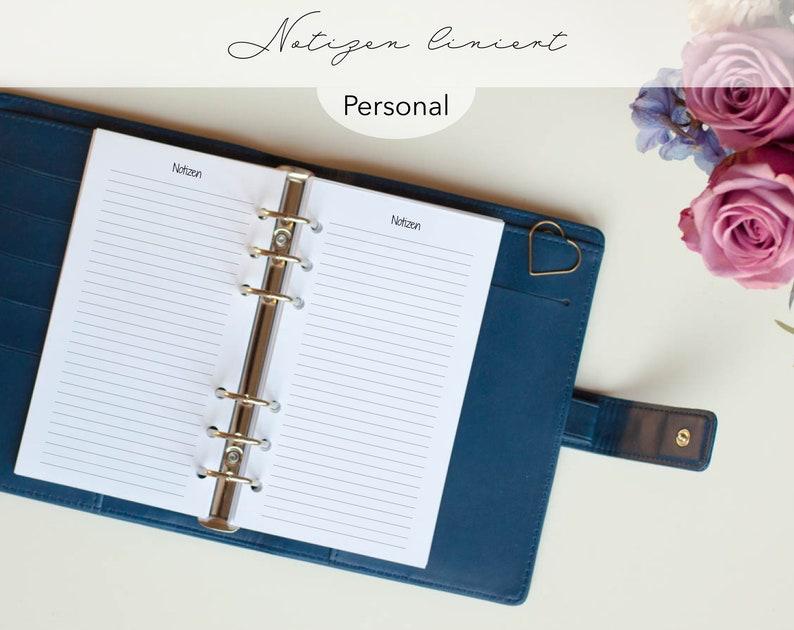 Kalendereinlagen 30 Blatt Liniert Notizen Personal / Planner image 0
