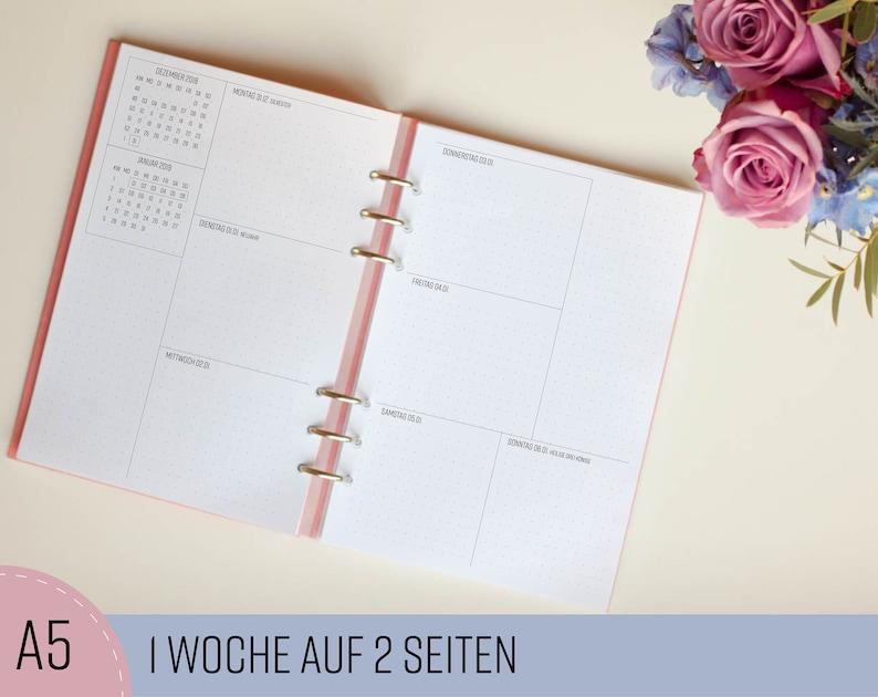 Kalendereinlagen 1W/2S A5 Dotted/ Planner Inserts image 0