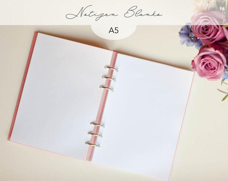 Kalendereinlagen 30 Blatt blanko Notizen A5 / Planner Inserts image 0