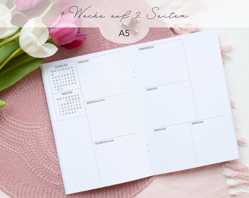 Heft/Insert A5 Dotted 1W/2S / Weekly Planner image 0