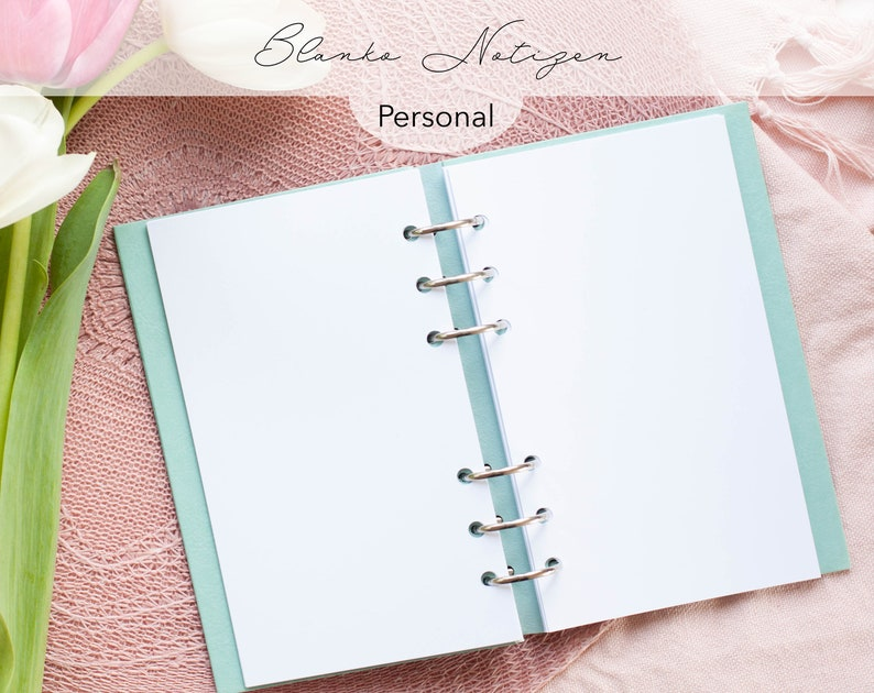 Kalendereinlagen 30 Blatt blanko Notizen Personal / Planner image 0
