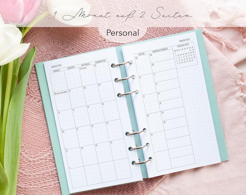 Kalendereinlage Monatsübersicht Dotted Personal image 0