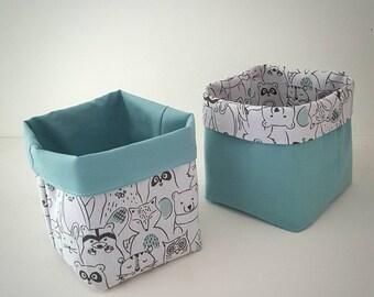 Reversible fabric baskets / storage baby