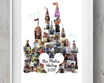 Disney Mickey Photo Montage Castle / Disney Collage / Mickey Mouse
