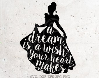 AlwaysSmileSVG on Etsy A Dream Is A Wish Your Heart Makes Shirt