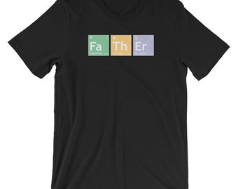 c3b24985 Father Periodic Element Shirt, Father Spelled Out, Fathers Day Gift, Periodic  Table, Funny Daddy's Shirt, Fatherhood TShirt, Gift For Dad